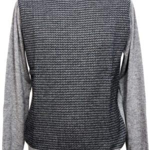 Lupetto zip lavorazione maglia unita pura lana
